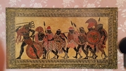 Большое панно(картина).Ручная роспись-гравировка. Размер - 600 х 1100